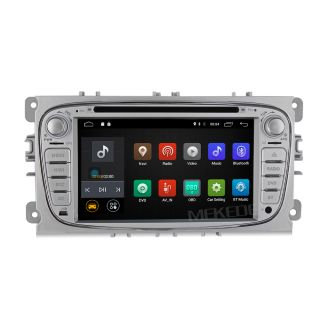 Navigatie Android 7.1 Ford Focus Mk2, Mondeo, Galaxy, S-Max, C-Max, Transit Connect, Tourneo cu DVD + Cadou Card GPS 8Gb (argintiu)